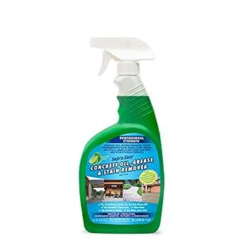 Safe  n Easy Concrete Oil Grease Cleaner & Stain Remover Spray Heavy Duty Garage Floors & Driveways Non-Toxic Safe No Odor No Hazardous Fumes No Scrubbing Spray On Rinse Off  22oz