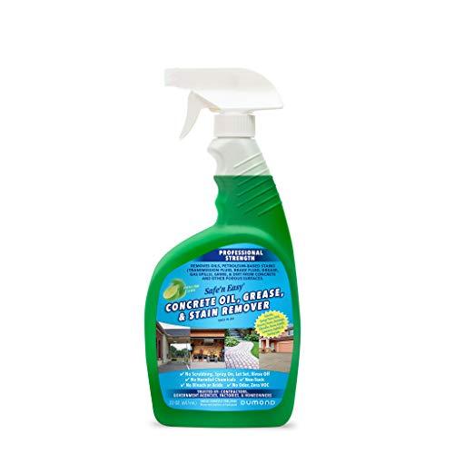 Safe 'n Easy Concrete Oil, Grease Cleaner & Stain Remover Spray. Heavy Duty. Garage Floors & Driveways, Non-Toxic, Safe, No Odor, No Hazardous Fumes, No Scrubbing, Spray On, Rinse Off (22oz)