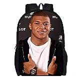 DBCJVB Mochila de moda tela Oxford 40x30x15cm deporte fútbol mbappe Campus mochila escolar viaje al aire libre bolsa ligera para acampar