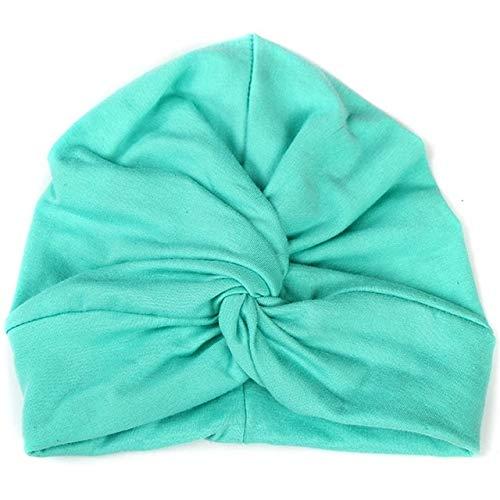 Accessori per Capelli Styling Bonnet Bébé Coton Turban Doux Noeud Été Bohème Enfants Filles Nouveau-né (Couleur : Light Green)