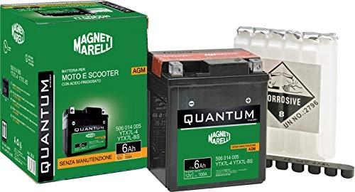 Batteria Quantu-Marelli 6ah Agm C/Acido-S/Manutenzione