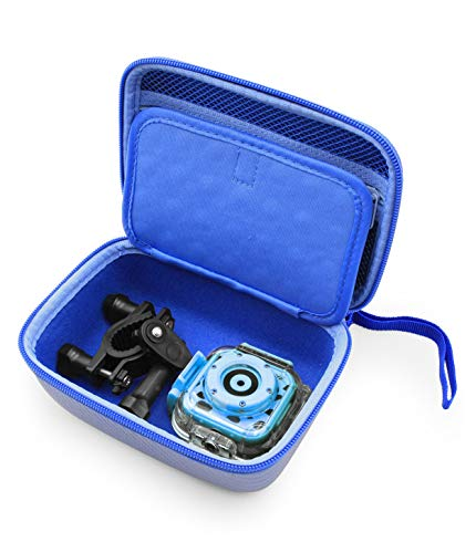 CASEMATIX Camera Travel Case Compatible with PROGRACE, Ourlife, Dragon Touch and More Waterproof Toy Camera Video Recorders - Case for Toy Action Camera and Accessories