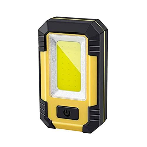 Linterna - Luz de trabajo magnética LED con base magnética, Linterna COB recargable que funciona con batería, Lámpara de inundación multiusos de alto brillo para emergencias al aire libre