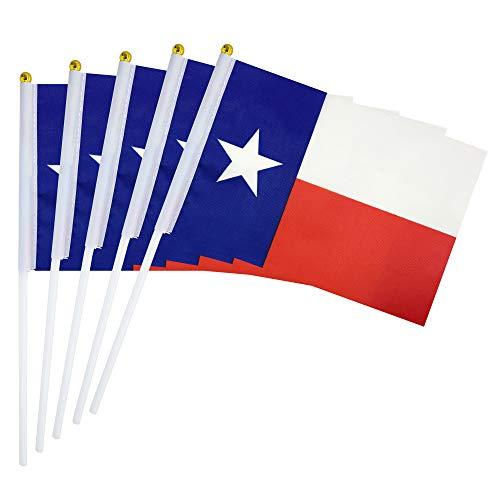 LoveVC Texas State Flag Small Mini Texas Stick Flags,25 Pack