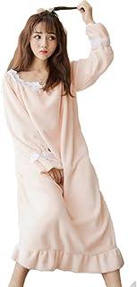 ルームウェアワンピース フランネル ネグリジェ 可愛い 姫系 暖かい ふわふわ 部屋着 寝間着 柔らか