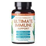 Ultimate Immune Support Vitamin C, D, E and Zinc + Natural Immunity Booster Multivitamin Herbal Supplement Elderberry & Echinacea, Daily Immune Defense & Antioxidant Support (120 Capsules)