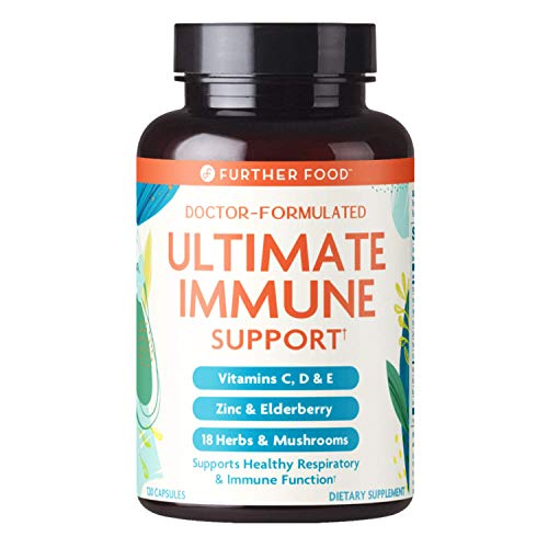 Ultimate Immune Support Vitamin C, D, E and Zinc + Natural Immunity Booster Multivitamin Herbal Supplement Elderberry & Echinacea, Daily...