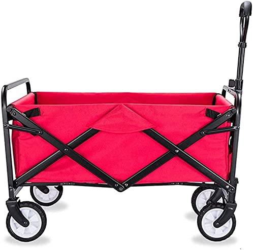 WBJLG Picknickwagen klappbarer tragbarer Picknickwagen, Angelwagen im Freien, Einkaufswagen für alte Männer, Einkaufswagen mit großer Kapazität, multifunktionaler Outdoor-Wagen, Grün, L
