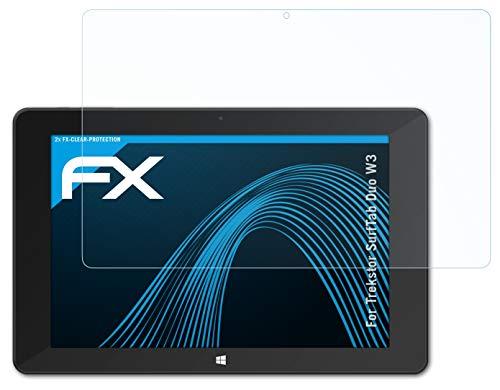 atFolix Schutzfolie kompatibel mit Trekstor SurfTab Duo W3 Folie, ultraklare FX Bildschirmschutzfolie (2X)