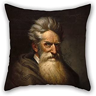 MaSoyy Oil Painting Ole Peter Hansen Balling - John Brown Pillowcase 18 X 18 Inches / 45 By 45 Cm Gift Or Decor For Dance Room Living Room Drawing Room Bf Teens - Two Sides