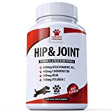 Glucosamine 800mg Advanced Dog Hip and Joint Support Supplements - With Chondroitin MSM & Vitamin C - Canine...