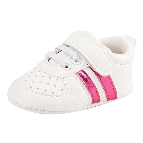 Bright_99 Babyschuhe Kleinkind Freizeitschuhe Sneaker Krabbelschuhe für 0-18 Monate (0-6 Monate, Pink)