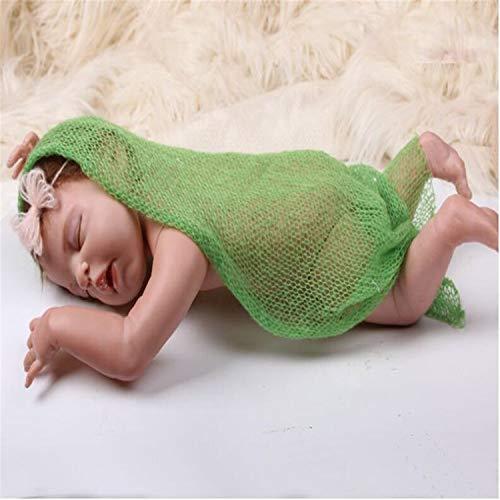 BABIFIS Pasgeboren Mohair Stretch Wikkel Baby Fotografie Props Zonder Haarband Baby Wikkel Sjaal, baby Kostuum Feesten En Meer