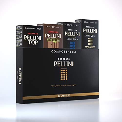 Pellini Caffè - Espresso Pellini Confezione Gift Box (mix multigusto da 40 Capsule), Compatibili Nespresso