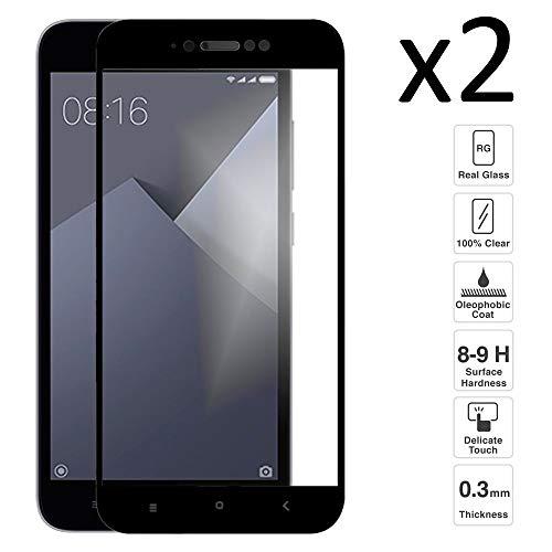 iGlobalmarket [2 Unidades Protector de Pantalla 3D Xiaomi Redmi Note 5A / 5A Prime, Cristal Templado, sin Burbujas, Alta Definicion, 9H Dureza, Resistente a Arañazos