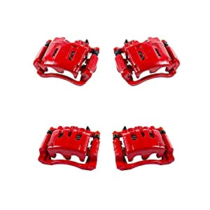 Callahan CCK07367 [4] FRONT + REAR Premium Powder-Coated Performance Calipers + Hardware [fit Chevrolet GMC]