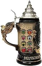 German Beer Stein Germany with state coat of Arms Stein 0.4 liter tankard, beer mug