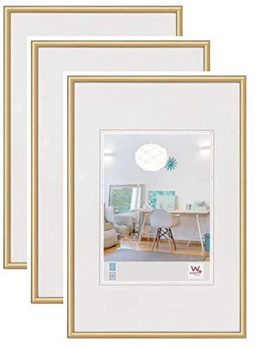 3er Pack New Lifestyle Kst.Rahmen 13x18 cm, gold