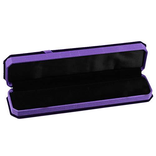 Recet Joyero de franela octogonal con lazo, caja de almacenamiento, caja de regalo para San Valentín