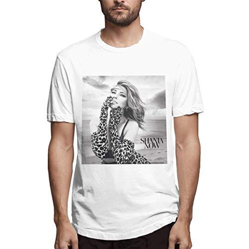 Los cómodos Shania Twain de los Hombres Ahora diseñan Las Camisetas Blancas,XXL