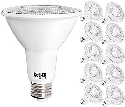 Sunco Lighting 10 Pack PAR30 LED Bulb, 11W=75W, Dimmable, 4000K Cool White, 850 LM, E26 Base, Flood Light, Indoor/Outdoor - UL & Energy Star