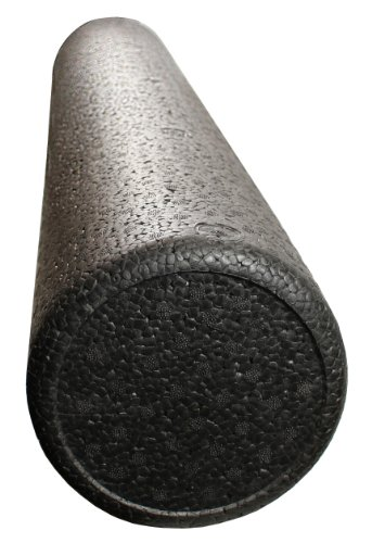 "EPE Black High Density Foam Roller - 6"" x 18"", Round, 1.9 lbs per cubic foot"
