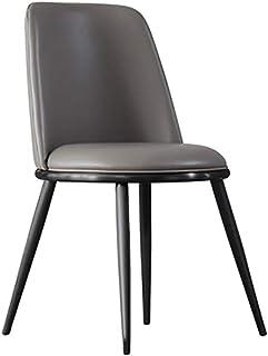 Sillas De Cocina 2 sillas de Comedor Luz Bolsa Silla Minimalista Volver Soft posmoderna Cafe heces Sillas De Comedor (Color : Gris, Size : 47cm x 47cm x 80cm)