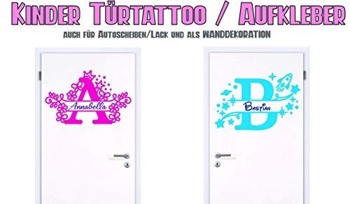NEU Aufkleber/Sticker für Kinderzimmer - Wände,Türen, Autoscheiben/Lack uvm ***Buchstabe + Name***(Größen.- und Farbauswahl)