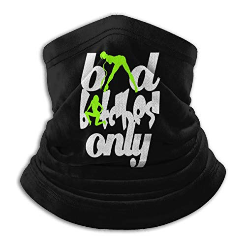 Bad Bitches Only Neck Gaiter Tube Mask Headwear, Motorcycle Face-Mask Face Scarf, Balaclava Black