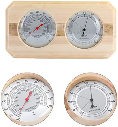 Dyna Living Wooden Sauna Hygrothermograph Hygrometer 2 in 1 Hygrometer Sauna Room Accessory product image