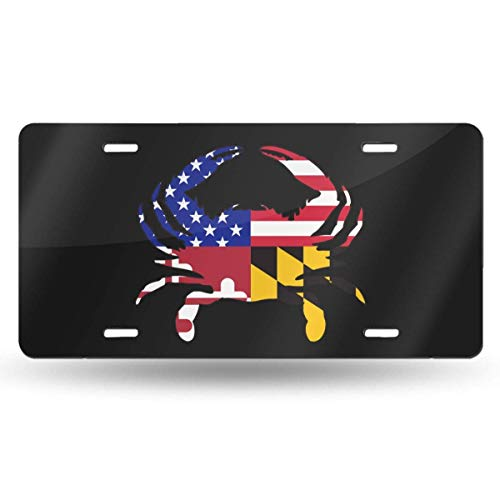 BRIGHT JUNAY USA American Flag Soldier Retro License Plate Aluminum Metal License Plate 6 Inches X 12 Inches