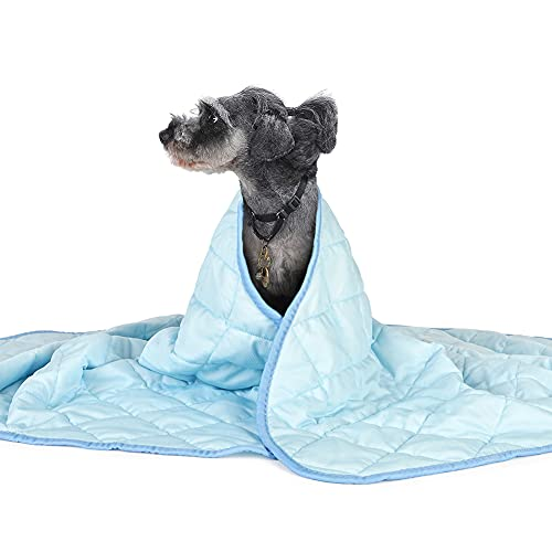ペットクールマット 冷感シート 大型犬用 冷却マット 熱中症 暑さ対策 ペット用 冷感グッズ ひえひえ爽快 多用途(60*70cm ブルー)