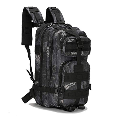 Jipemtra Tactical First Aid Bag MOLLE EMT IFAK Backpack Military Emergency (Python Black 30L)