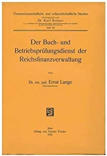 Der Buch- Und Betriebsprufungsdienst Der Reichsfinanzverwaltung