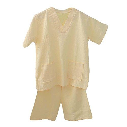 Panda Legends Cotton Waffle Tissu Court Pyjamas Suit lâche Home Wear Khan à Vapeur Pyjamas