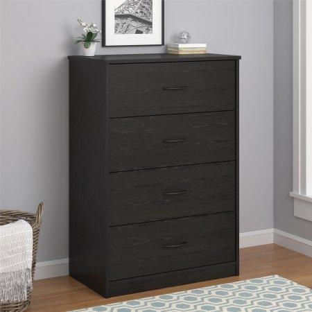 Why Choose Mainstays 4-Drawer Dresser, Black Oak
