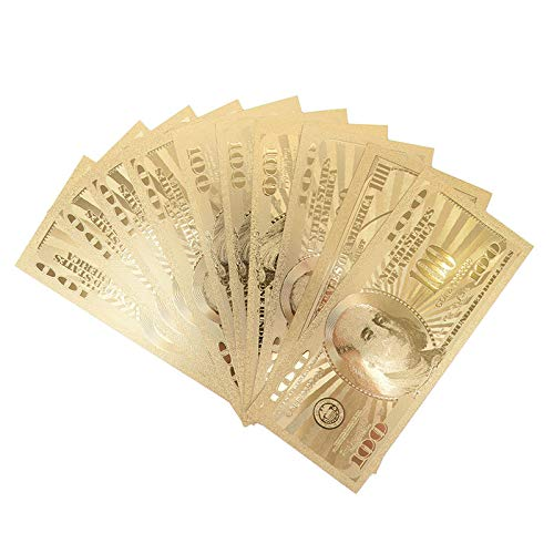 10pcs USA 100 Dollar Gold Banknote Currency Bill Paper Money Coin Medal 24k United States of America