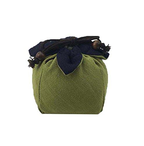 Black Temptation Design rétro, Petit Cadeau, Bijoux, Grain de café, Bonbons, Sac de Rangement de thé (Vert)