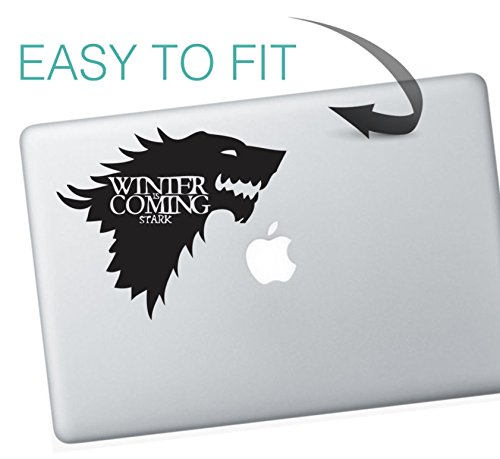 decorsfuk.co Macbook-Aufkleber, Motiv Game of Thrones, Winter is coming, Haus Stark