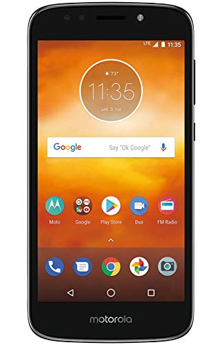 Boost Mobile Moto E5 Prepaid Phone, Play 5.2' HD Display 16GB ROM/2GB RAM 1.4 GHz Quad-Core, Carrier...