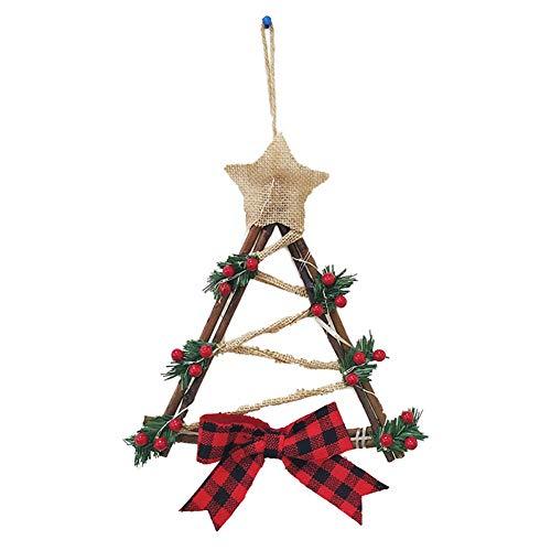 HS-HWH219 Hot Kerstkrans met batterij-aangedreven Garland vakantiehuis party LED-licht snoer voordeur hangend feestelijke decoratie
