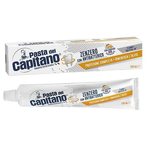 Pasta del Capitano Dentifricio Zenzero Con Antibatterico - Confezione Risparmio - 100 Ml