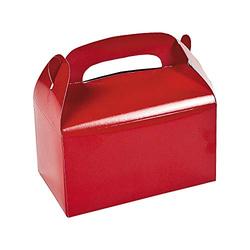 Fun Express Red Treat Boxes (1 dozen) 4th of July, Valentine, Holiday & Christmas Cookie Exchange,...