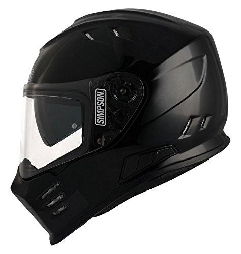 Unbekannt Simpson Helmet Venom 58-M, Schwarz Metal, Größe M