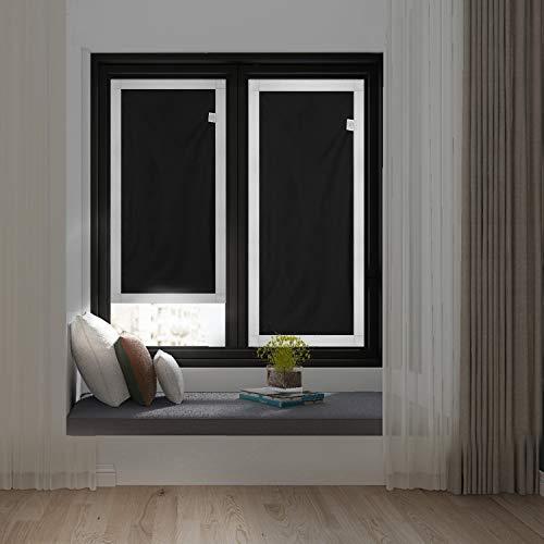 Johgee 48 * 93cm einfaches Verdunkelungsrollo ohne Bohren Dachfenster Sonnenschutz Rollo mit Klettverschluss für VELUX Dachfenster