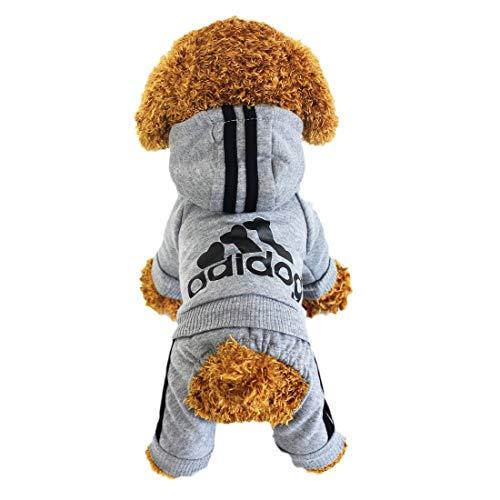 LifeWheel Hundemantel Warm Wintermantel Haustier Mantel Hund Kleider, Grau L