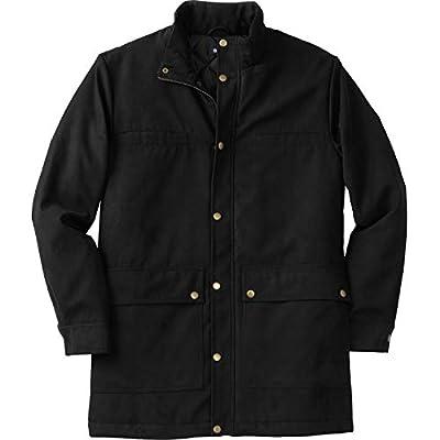 KingSize Men's Big & Tall Microsuede Parka - Big - 4XL, Black from KingSize