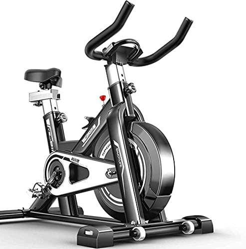 WGFGXQ Bicicleta de Ejercicio Bicicleta de Ciclismo Bicicleta de Interior Bicicleta de Spinning Bicicleta Cardio Fitness Cycle Trainer Corazón con Pantalla LED Bicicletas estáticas Estacionarias In