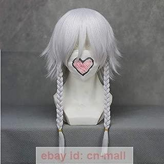 FidgetGear Touhou Project Izayoi Sakuya Silver White Anime Cosplay Wig with Braids