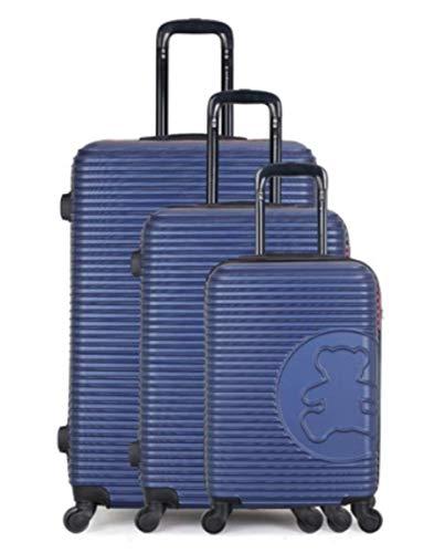 Lulu Castagnette Set de 3 valises de Voyage - Modèle Big Bear- ABS...